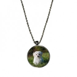 Collier photo rond