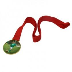 Médaille ronde dorée
