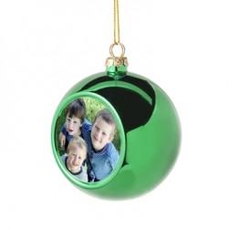 Boule de Noël verte