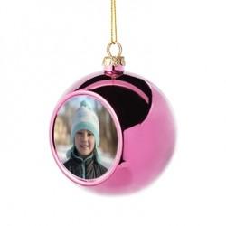 Boule de Noël rose