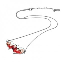 Collier double coeur