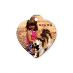 Médaille animal coeur
